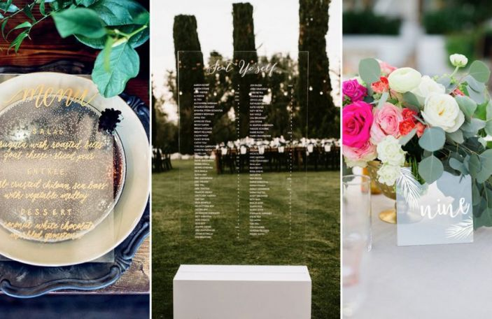 Awesome Acrylic Wedding Décor To Obsess Over