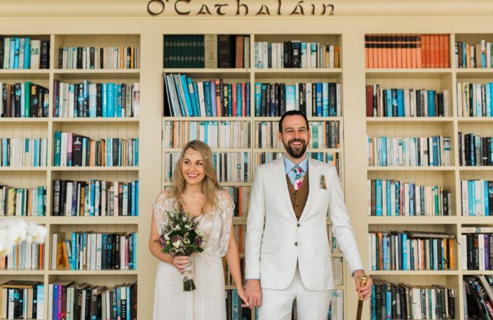 Georgina and Shane's stylish, intimate wedding at Ballymagarvey Village