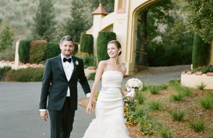 Kim and Dave's elegant black-tie Wine County wedding at Madrona Manor