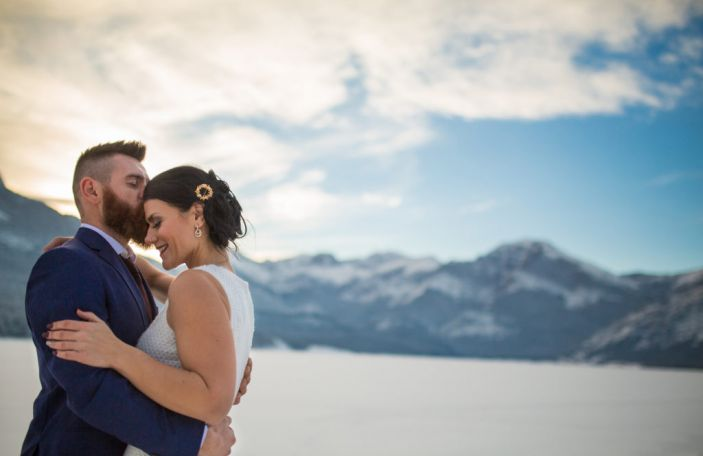 Kaley and Anthony's relaxed cabin-feel mountain wedding shot by Cole Hofstra