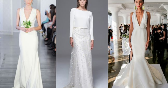 Trend Alert: Super Simple Wedding Dresses