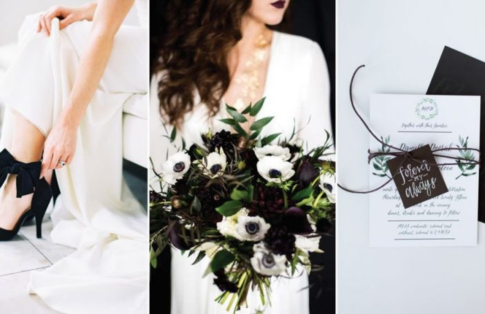 Dare to go bold? Beautiful black wedding details