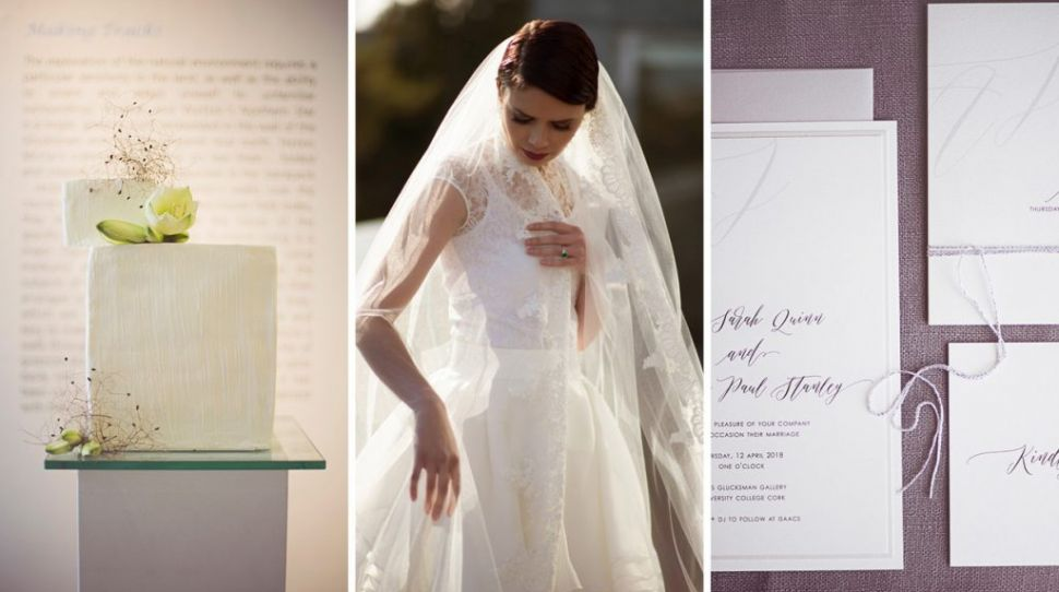 Clean, modern, minimalist bridal fashion at this Petal and Twine shoot in Cork