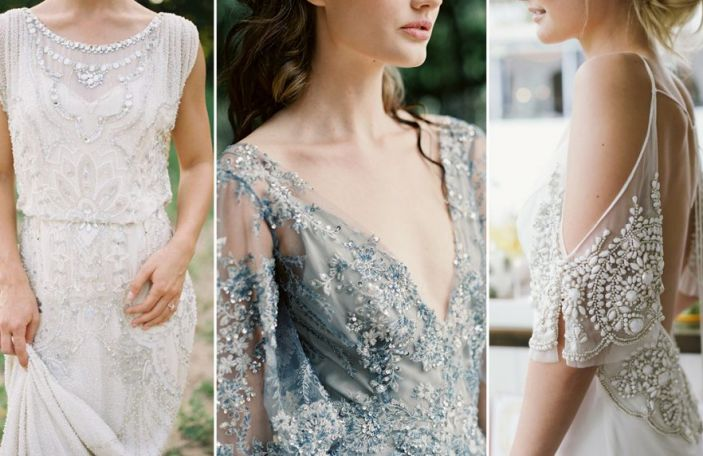 Beaded wedding dresses for the show-stopping bride