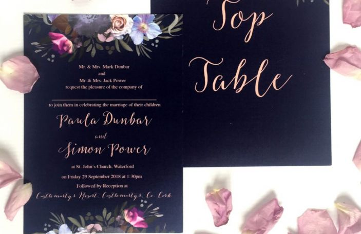 Wedding Stationery Trend: Navy and Blush