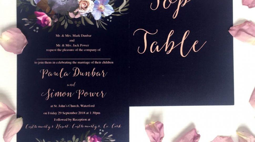 Wedding Stationery Trend: Navy and Blush