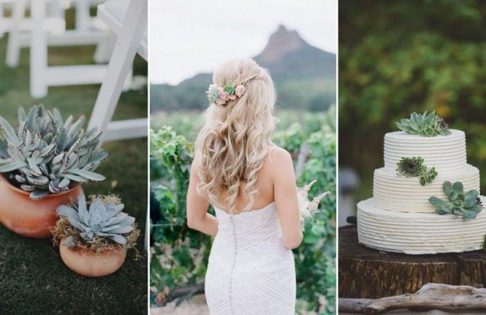 Wedding Trends 2017: Succulent Décor Ideas