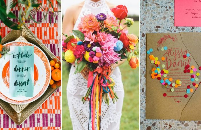Colourful Wedding Elements for Summer Celebrations