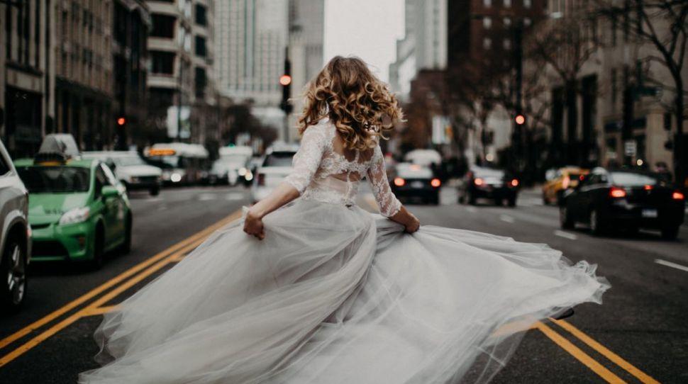 Grey wedding dresses for the adventurous bride