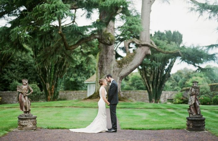 Rachel and Andrew's relaxed, pastel-hued Tankardstown House wedding