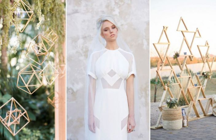 Geometric Wedding Details for a Modern Celebration