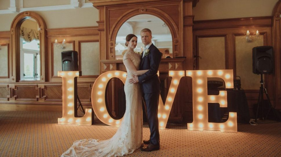 Charlene and Allan's elegant wedding with DIY elements at the Glenview Hotel, Co Wicklow