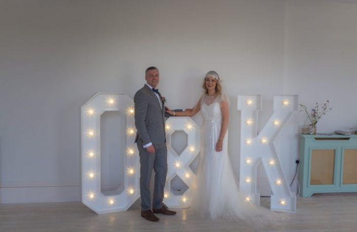 TREND ALERT! Popularity of LED letters for weddings is only growing