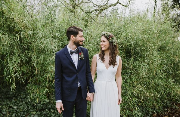 Anja and Benedikt's homely wedding at Cloughjordan House