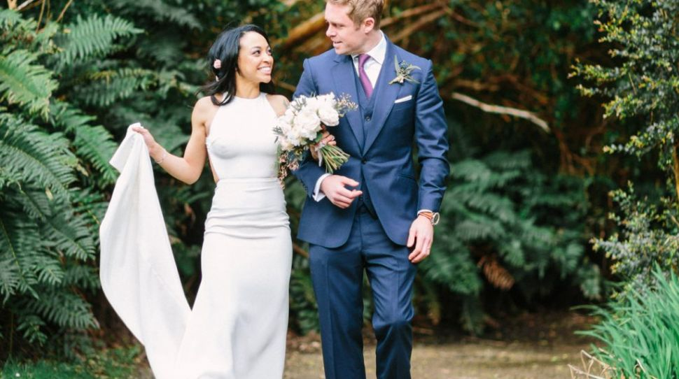 Paige and Ronan's blush and gold infused day at Parknasilla Resort and Spa