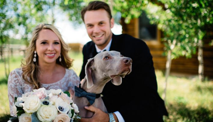 Cricket and Josh's outdoor Colorado ranch wedding