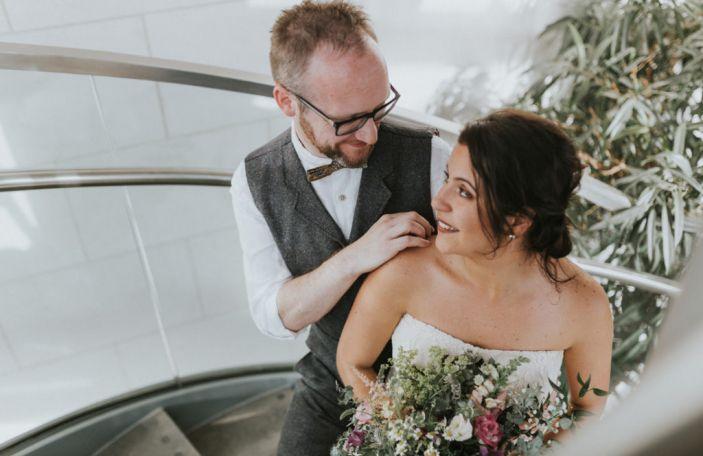 Dayana and David's modern DIY wedding at The Gibson Hotel