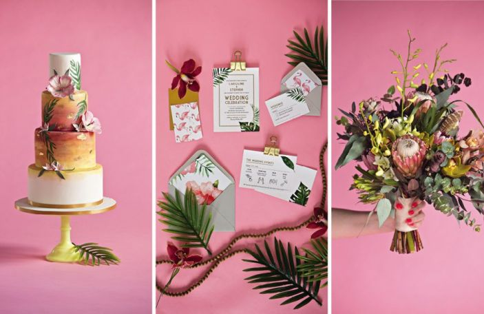 All in the details: cakes, flowers and stationery inspired by this year's coolest trends