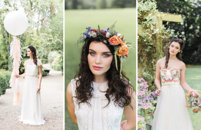 Secret Garden: Gorgeous wedding dresses and elegant decor at Rathsallagh House