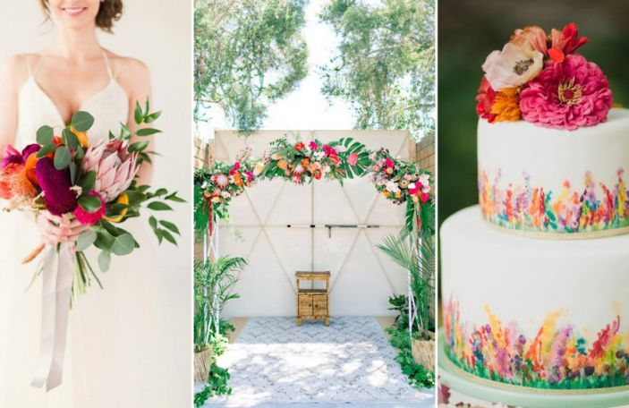 Bright Wedding Details for Your Summer Soirée