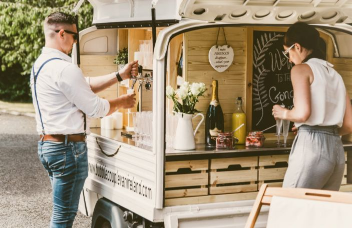 New supplier alert: Bubble Couple are bringing prosecco vans to your wedding