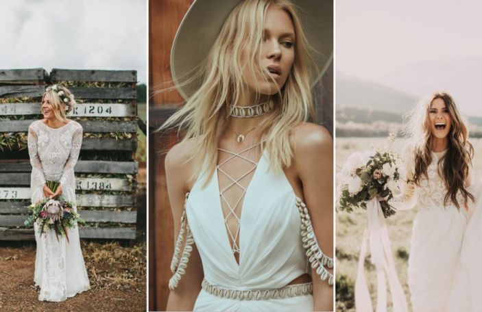 Easy breezy bride: Bohemian bridal gowns