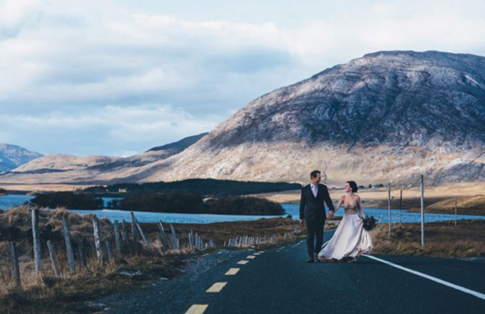 Bonnie and Matt's fairytale elopement on the streets of Galway city