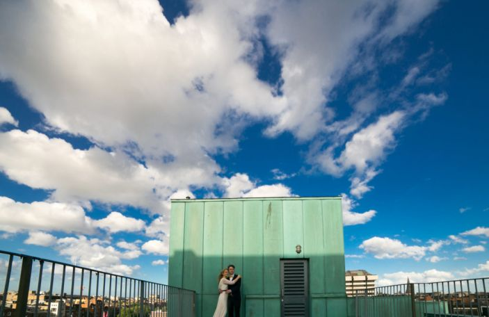 Aoife and Julien's alternative city wedding at City Assembly House, Dublin