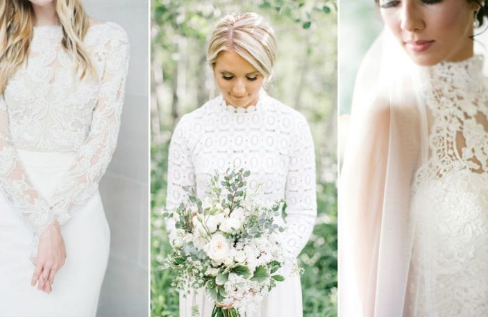 Wedding Dress Trends 2017: High Neck Gowns