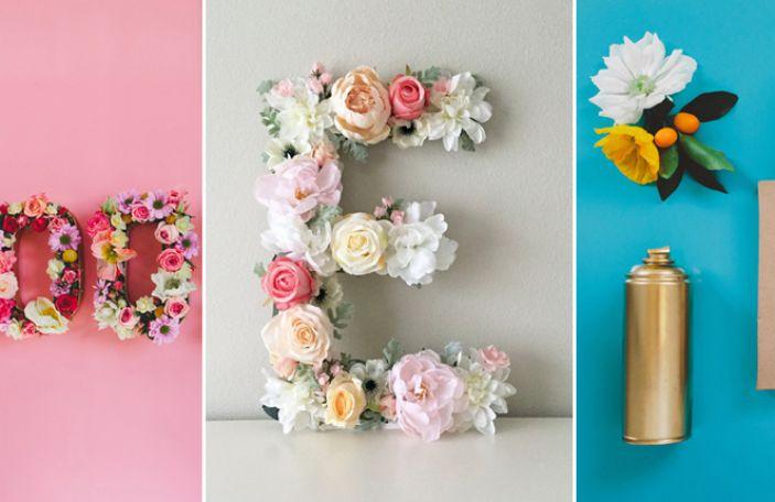 Wedding Trend Alert: Floral Letters