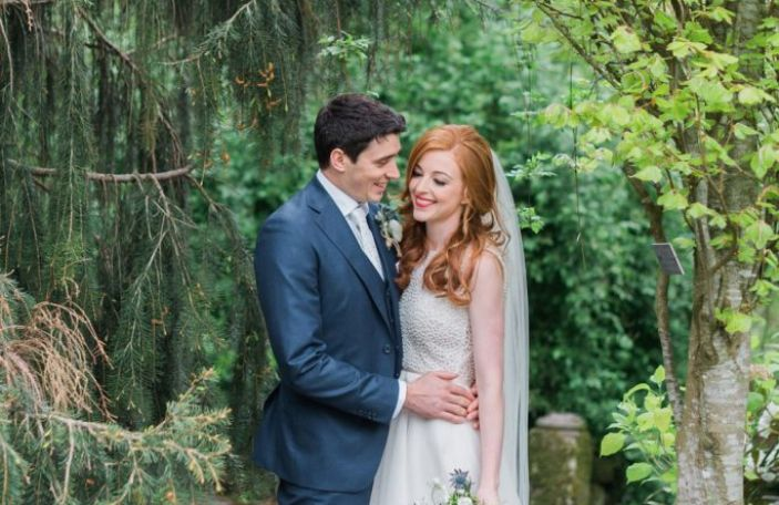 Cáit and David's gorgeous pastel-hued Step House Wedding