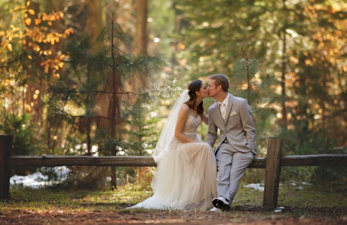 Katelynn and Matthew's fairytale-style woodland wedding at Big Trees National Park