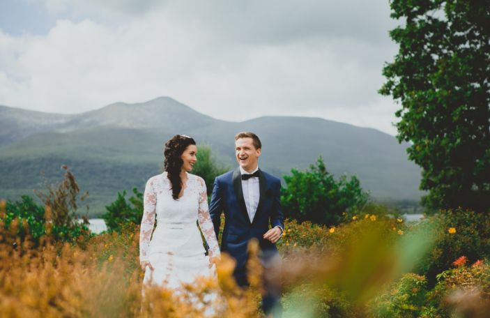 A relaxed, colour infused wedding in the stunning surrounds of The Europe Hotel, Co Kerry