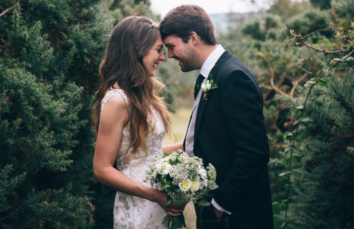 Becky and Charlie's homely, backyard wedding in Avoca, Co Wicklow