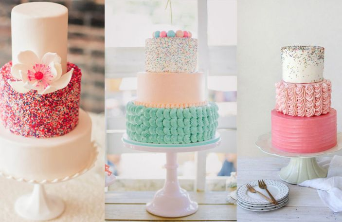 A sprinkle of colour: 2016's most fun wedding cake trend
