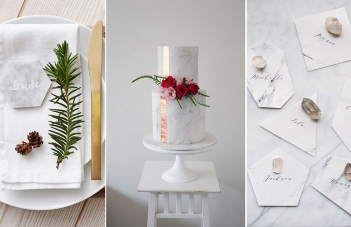 Set In Stone: 2016's Marble Wedding Trend
