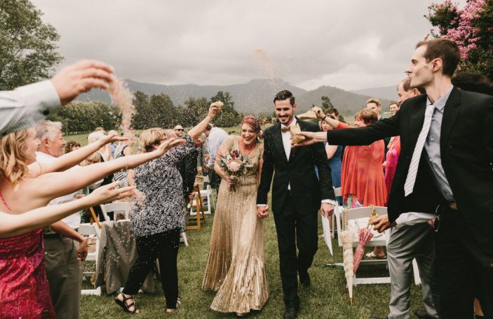 Beck and Tim's rustic, DIY-filled wedding downunder