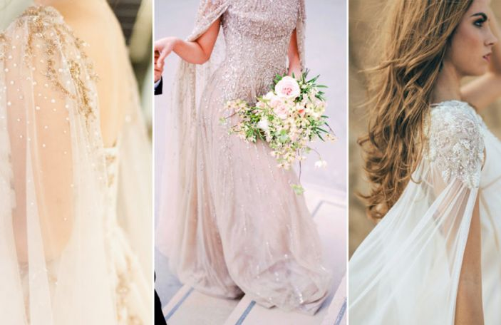 Wedding Dress Trends: Glorious Caped Gowns