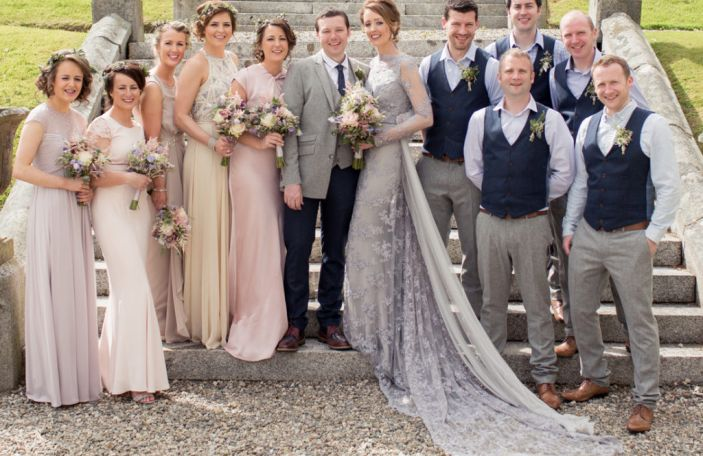 Elaine and Leon's outdoor celebration at Narrow Water Castle, Co. Down