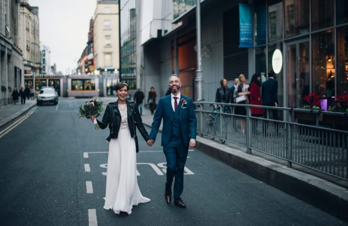 Aine and Paul's Dublin city centre wedding at Smock Alley and Medley