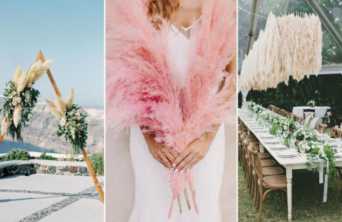 Pampas Grass Wedding Décor For Something Different
