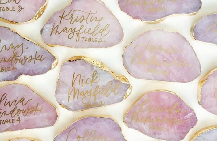 Crystal clear: gorgeous geode details you'll want for your wedding