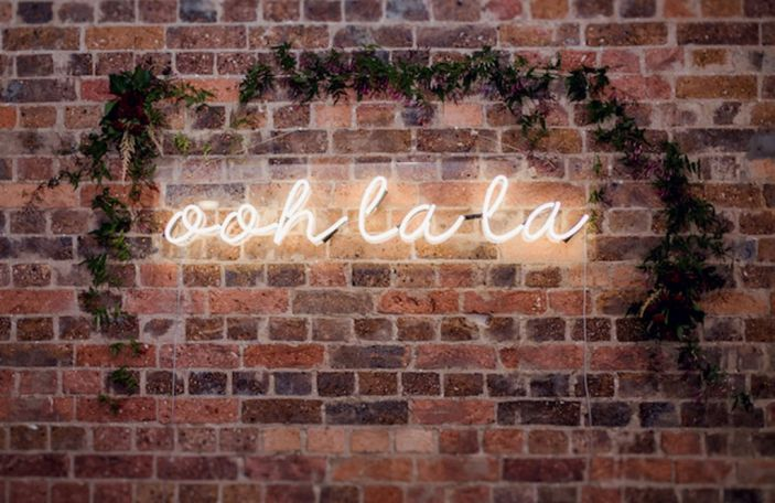 Light it up: Fab neon signs for an industrial-vibe celebration