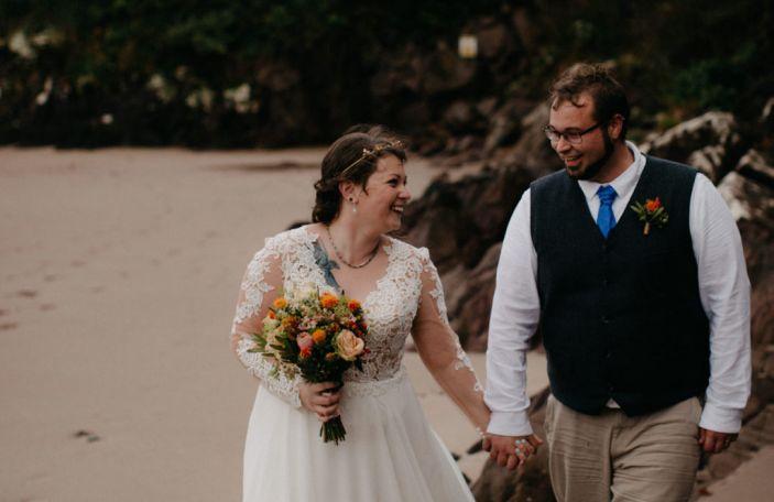 Jennifer and Travis' incredible intimate, rustic Ballintaggart wedding