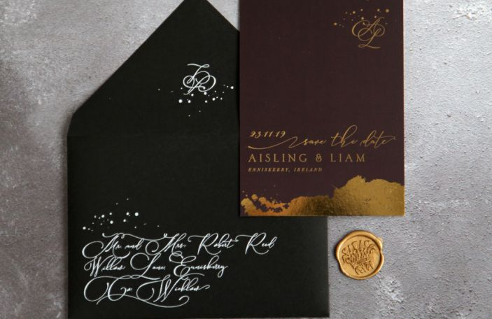 12 Days of Christmas Giveaways - 50 foiled Save the Dates from SavetheDate.ie