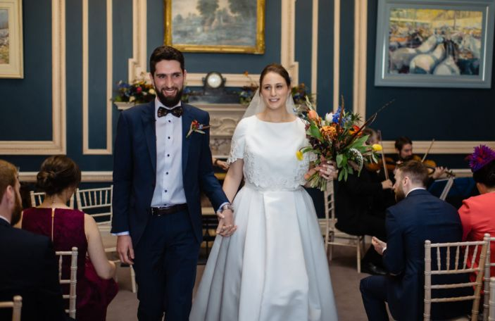 Tess and Ian's beautiful Stephen's Green Hibernian Club wedding in Dublin city