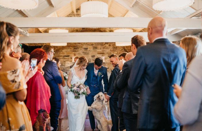 Kirsty and Alec's beautiful autumn Ballymagarvey Village wedding