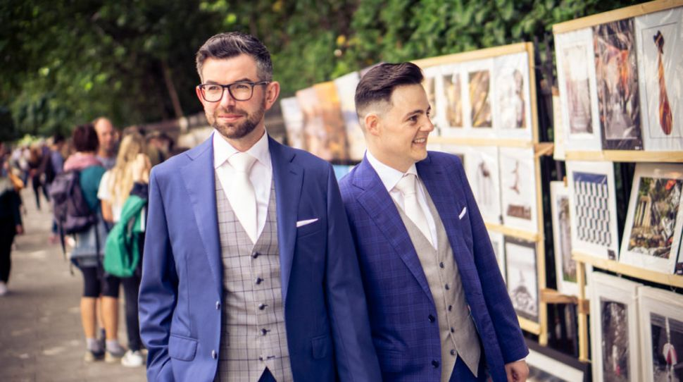 Derrick and Walt's stunning summer city wedding at the Stephen's Green Hibernian Club