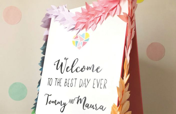 DIY Wedding Welcome Sign and Garland: Joanne Condon's step-by-step guide