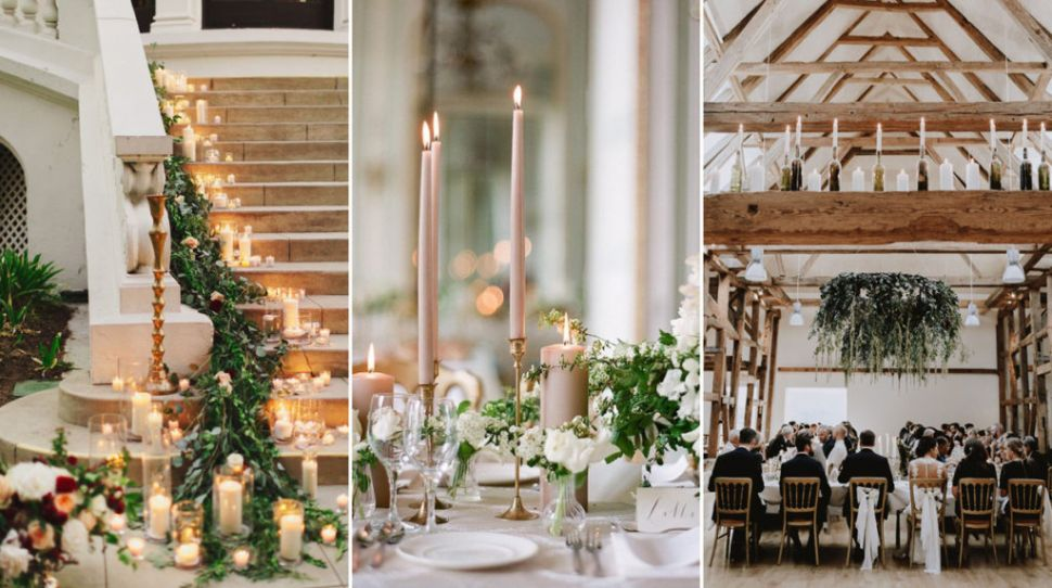 11 gorgeous ways to decorate your wedding with candles - on a budget!